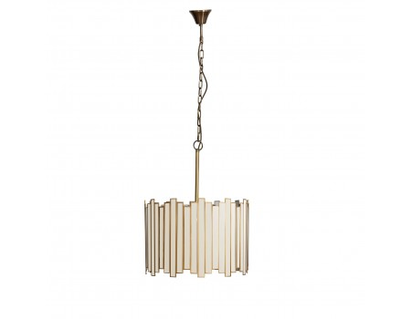 Brass, Acrylic & Metal Mirrored Pendant Lamp