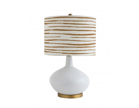 Gold Striped Fabric Shade