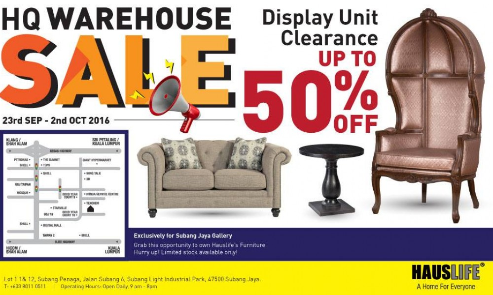Hauslife Headquarters Warehouse Sales!