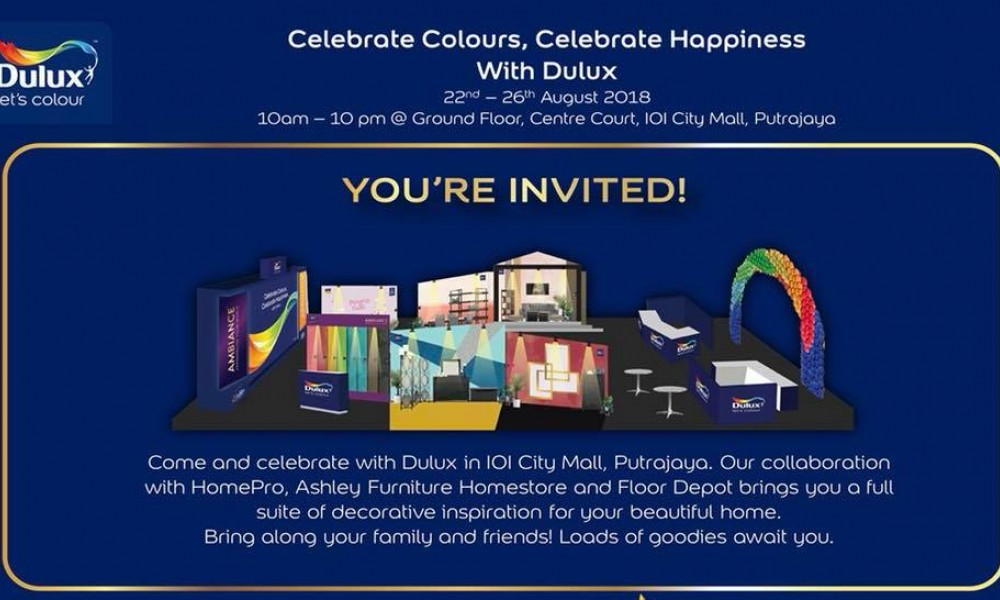 """Celebrate Colours, Celebrate Happiness"" with Dulux"