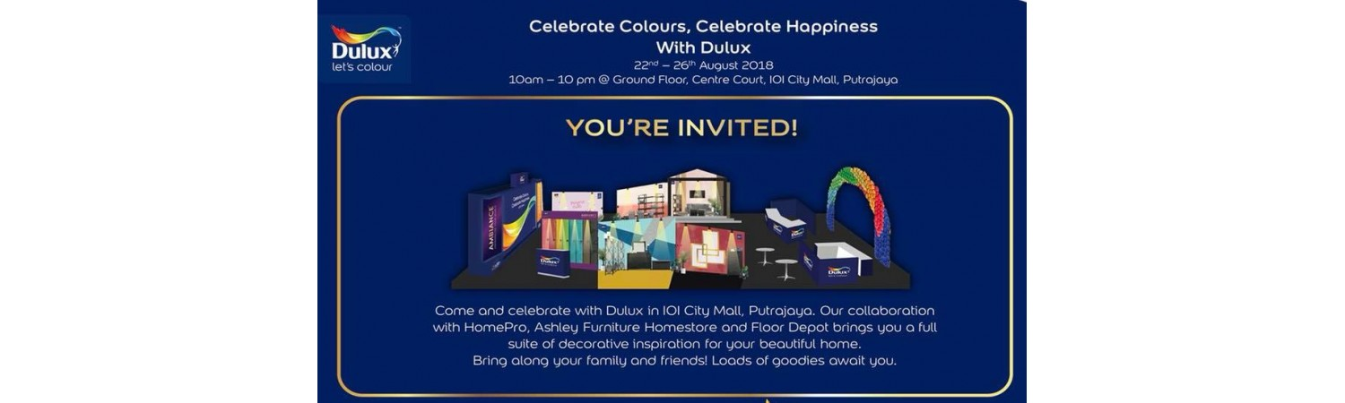 """""""Celebrate Colours, Celebrate Happiness"""" with Dulux"""